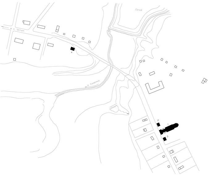 Схема расположения построек в