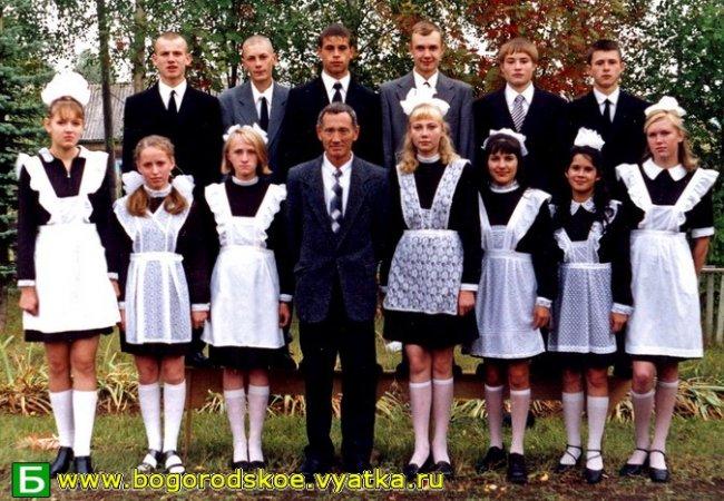 Выпускники Ошланской средней школы 2003 года.