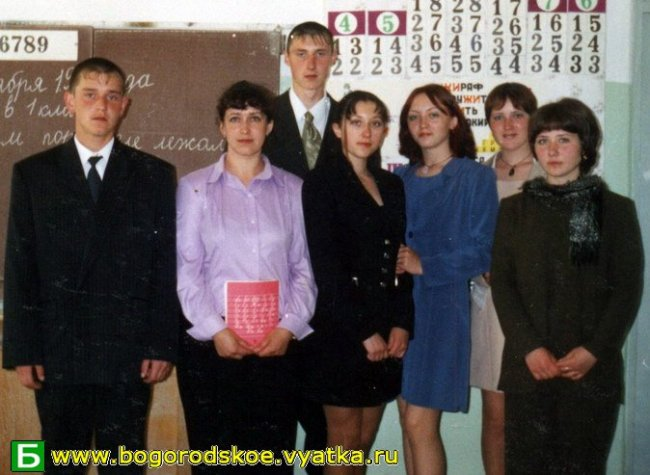Выпускники Таранковской средней школы 2003 года.