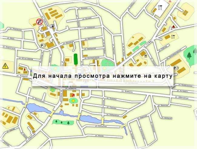 Для начала просмотра нажмите на карту