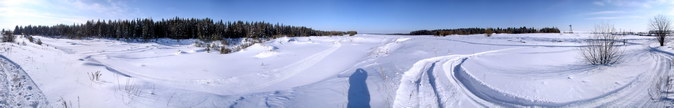 Панорама. Трасса охотничьего биатлона.