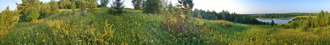 Мухачевский пруд в 5 утра. Утренняя панорама.