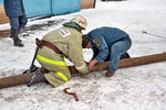 Богородские пожарные тренировались соединять всасывающие рукава
