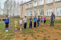 В Ошланской школе прошёл легкоотлетический кросс к Дню ПОБЕДЫ