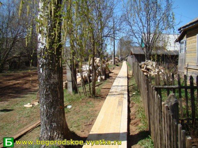 Определенные улицы для строительства тротуаров в пгт. Богородское в рамках ППМИ:
