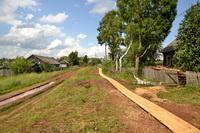 Строительство тротуаров началось…