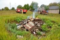 В Богородском районе сожгли кабана, заражённого африканской чумой!