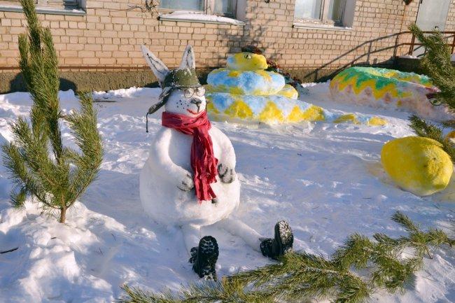 Родной поселок в новогоднем убранстве…