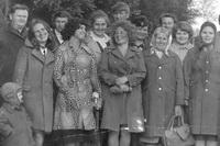 Выпускники Ухтымской средней школы 1967 года.