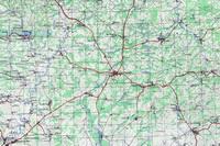 Карта с населенными пунктами района.
