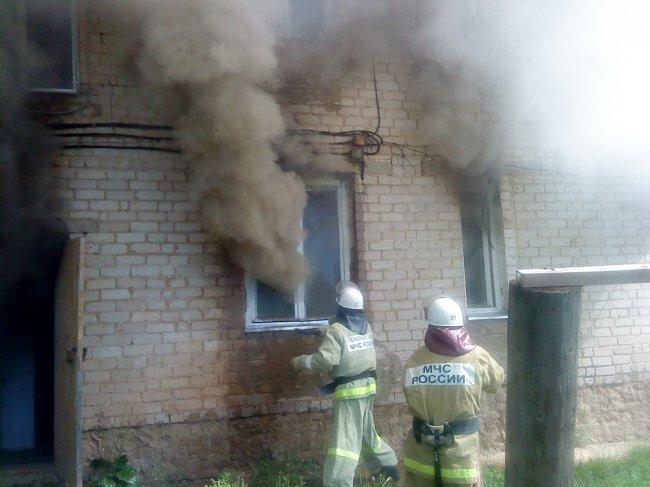 О пожаре в многоквартирном доме на ул. Коммуны, дом 24