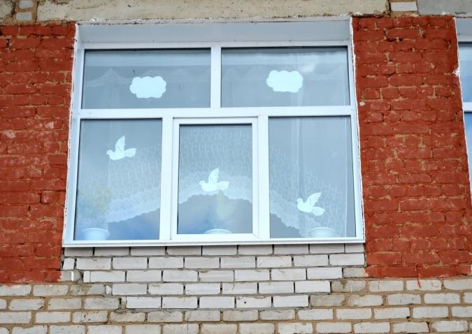 Богородскую школу украсили к дню